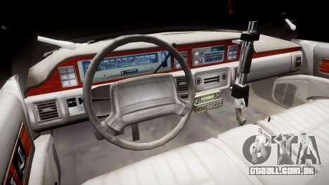 Chevrolet Caprice 1990 LCPD [ELS] Traffic para GTA 4 vista de volta