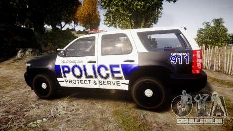 Chevrolet Tahoe 2010 Police Algonquin [ELS] para GTA 4 esquerda vista