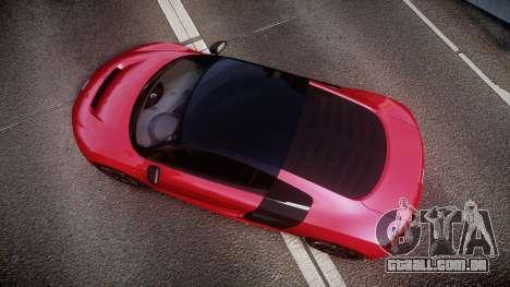 Audi R8 E-Tron 2014 dual tone para GTA 4 vista direita
