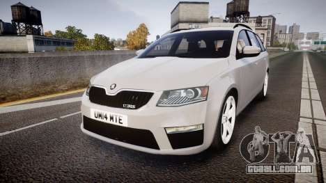 Skoda Octavia Combi vRS 2014 [ELS] Unmarked para GTA 4