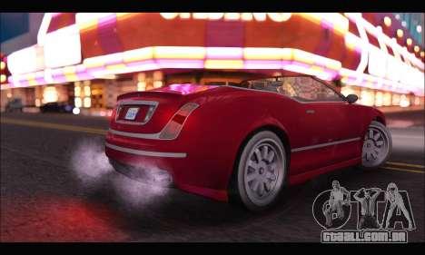 Enus Cognoscenti Cabrio (GTA V) para GTA San Andreas traseira esquerda vista