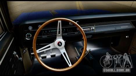 Chevrolet Chevelle SS 396 L78 Hardtop Coupe 1967 para GTA San Andreas vista interior
