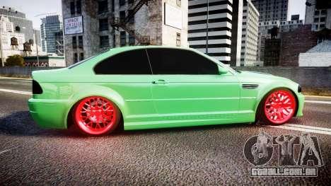 BMW M3 E46 Green Editon para GTA 4 esquerda vista
