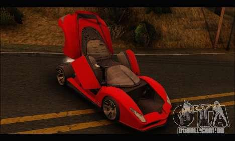 Grotti Cheetah v3 (GTA V) para GTA San Andreas vista traseira