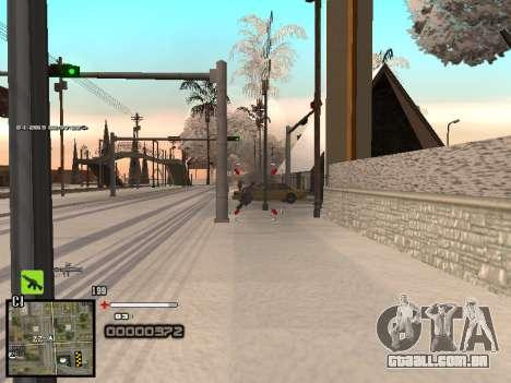 Um simples C-HUD para GTA San Andreas quinto tela