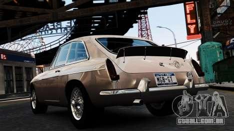 MGB GT 1965 para GTA 4 traseira esquerda vista