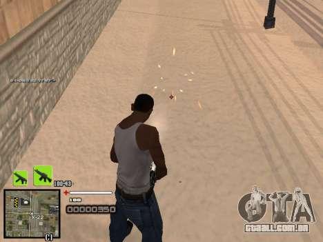 Um simples C-HUD para GTA San Andreas segunda tela