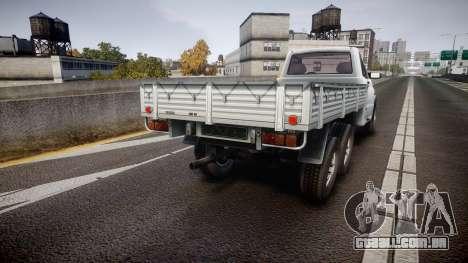 UAZ 2360 6x6 para GTA 4 traseira esquerda vista