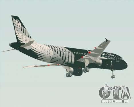 Airbus A320-200 Air New Zealand para GTA San Andreas vista direita