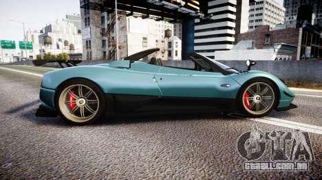 Pagani Zonda Cinque Roadster 2010 para GTA 4 esquerda vista