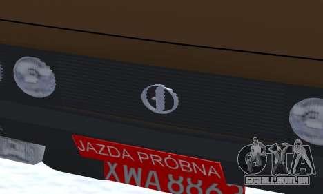FSO Polonez 2.0X Coupe para GTA San Andreas vista interior