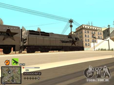 Um simples C-HUD para GTA San Andreas sexta tela