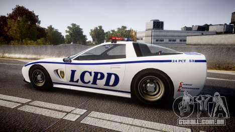 Invetero Coquette Police Interceptor [ELS] para GTA 4 esquerda vista