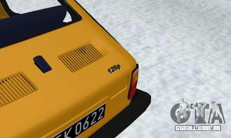 Fiat 126p FL para GTA San Andreas vista interior