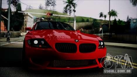 BMW Z4 M85 para GTA San Andreas traseira esquerda vista