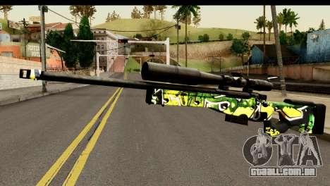 Grafiti Sniper Rifle para GTA San Andreas