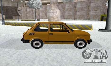 Fiat 126p FL para GTA San Andreas traseira esquerda vista