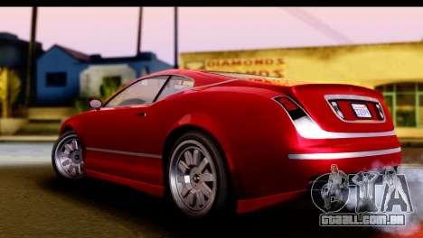 GTA 5 Enus Cognoscenti Cabrio IVF para GTA San Andreas traseira esquerda vista