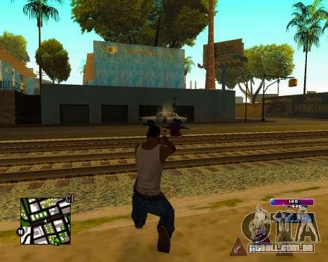 Space C-HUD v2.0 para GTA San Andreas por diante tela