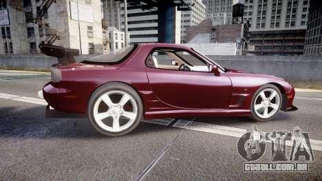 Mazda RX-7 Custom para GTA 4 esquerda vista