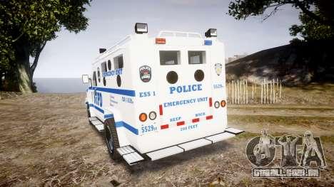Lenco BearCat NYPD ESU [ELS] para GTA 4 traseira esquerda vista
