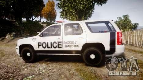 Chevrolet Tahoe 2010 Sheriff Dukes [ELS] para GTA 4 esquerda vista