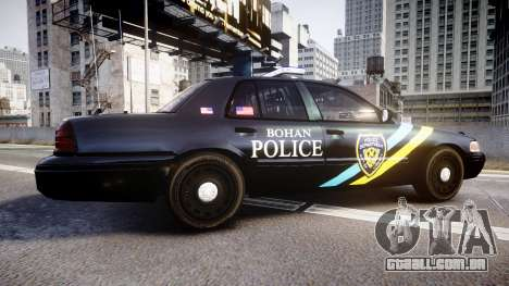 Ford Crown Victoria Sheriff Bohan [ELS] para GTA 4 esquerda vista