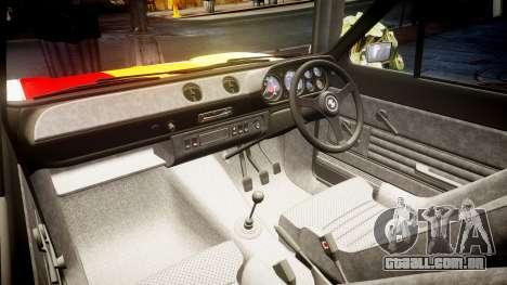 Ford Escort RS1600 PJ94 para GTA 4 vista interior