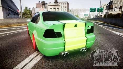 BMW M3 E46 Green Editon para GTA 4 traseira esquerda vista