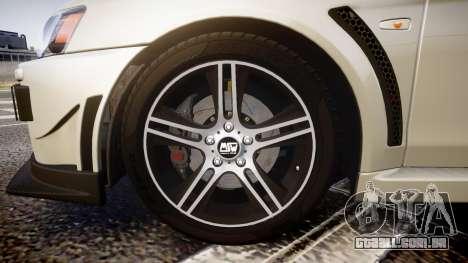 Mitsubishi Lancer Evolution X FQ400 para GTA 4