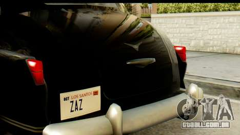 Lassiter Series 75 Hollywood para GTA San Andreas vista traseira