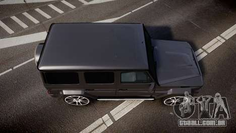 Mercedes-Benz G65 Brabus rims2 para GTA 4 vista direita