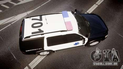 Ford Explorer 2008 LCPD [ELS] para GTA 4 vista direita