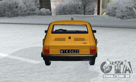 Fiat 126p FL para GTA San Andreas vista traseira