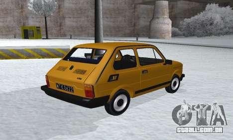Fiat 126p FL para GTA San Andreas esquerda vista