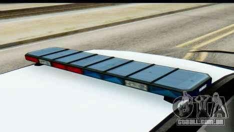 GTA 5 Buffalo S Police SF para GTA San Andreas traseira esquerda vista