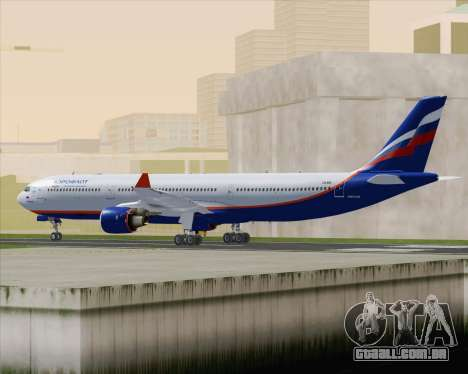 Airbus A330-300 Aeroflot - Russian Airlines para GTA San Andreas vista direita