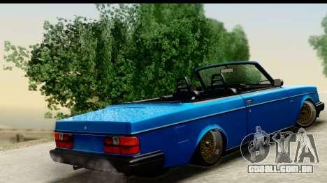 Volvo 242 Cabrio para GTA San Andreas esquerda vista
