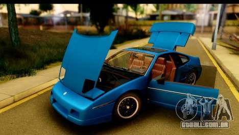 Pontiac Fiero GT G97 1985 IVF para GTA San Andreas vista interior