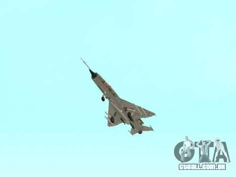 MiG 21 da força aérea Soviética para GTA San Andreas vista superior