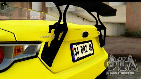 Subaru BRZ 2013 para GTA San Andreas vista interior