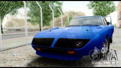 Plymouth Roadrunner Superbird RM23 1970 HQLM para GTA San Andreas esquerda vista