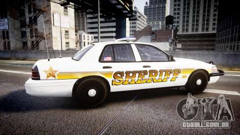 Ford Crown Victoria Sheriff Liberty [ELS] para GTA 4 esquerda vista