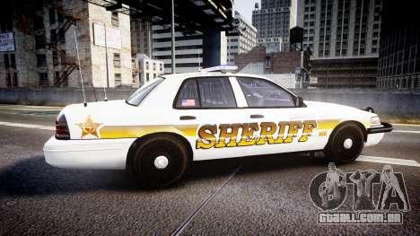 Ford Crown Victoria Sheriff Liberty [ELS] para GTA 4 esquerda vista