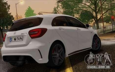 Mercedes-Benz A45 AMG para GTA San Andreas vista interior
