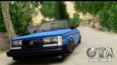 Volvo 242 Cabrio para GTA San Andreas traseira esquerda vista