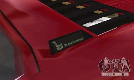 Fiat Bertone X1 9 para GTA San Andreas vista inferior