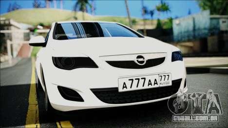 Opel Astra para GTA San Andreas vista direita