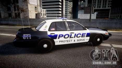 Ford Crown Victoria Police Algonquin [ELS] para GTA 4 esquerda vista