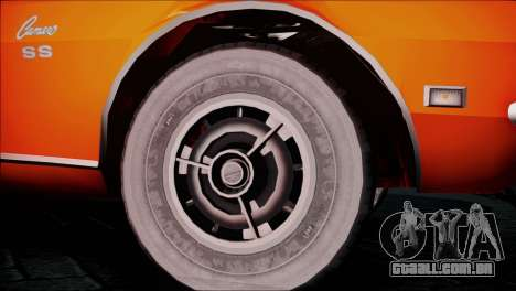 Chevrolet Camaro 350 para GTA San Andreas traseira esquerda vista